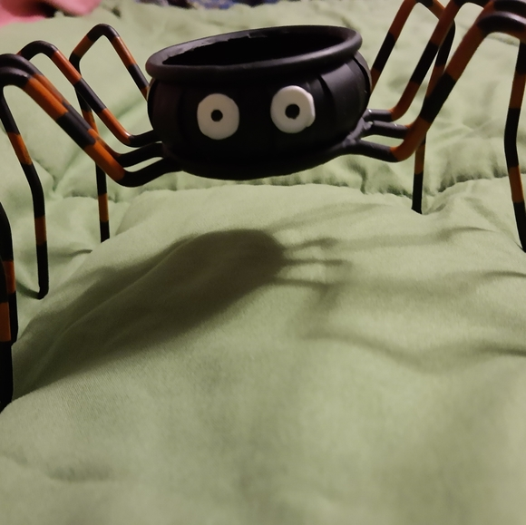 Spider Candle Holders/Lot of Halloween Decorations